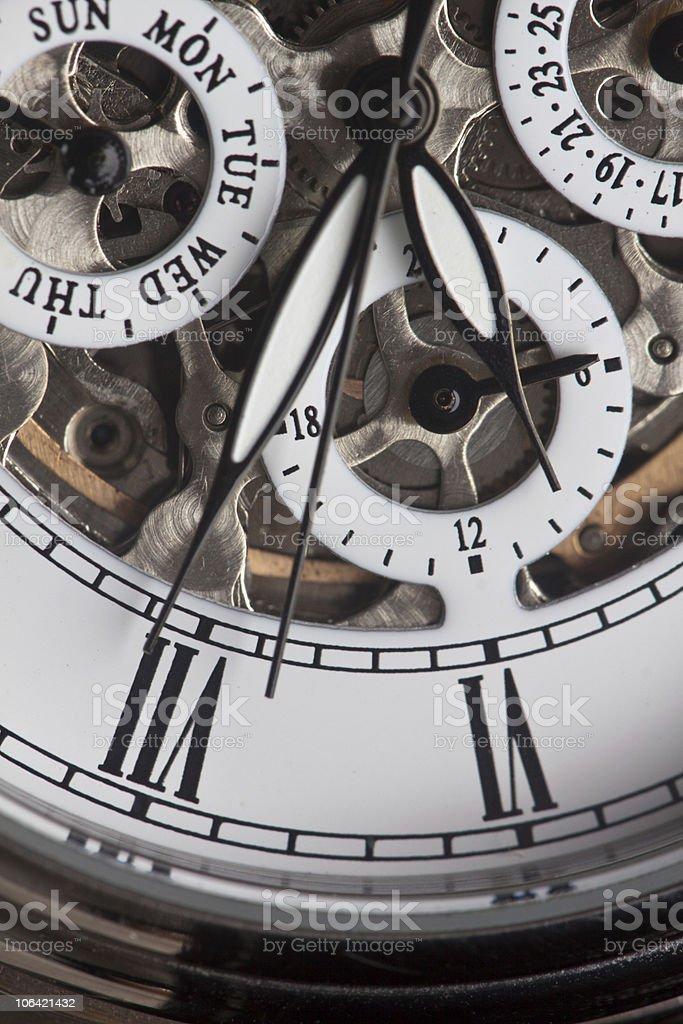 Relógio e relógio-mão foto de stock royalty-free