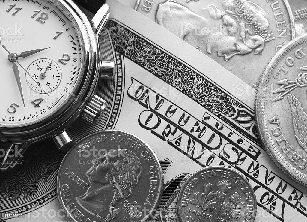 watch and money royalty-free stock photo