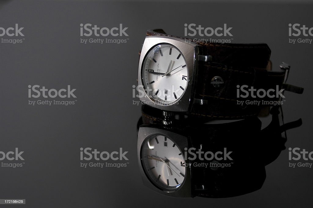 Watch and reflection stock photo