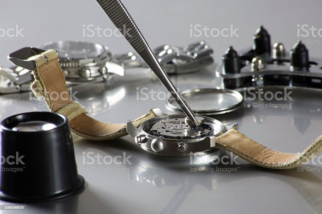 watch battery replacement stock photo