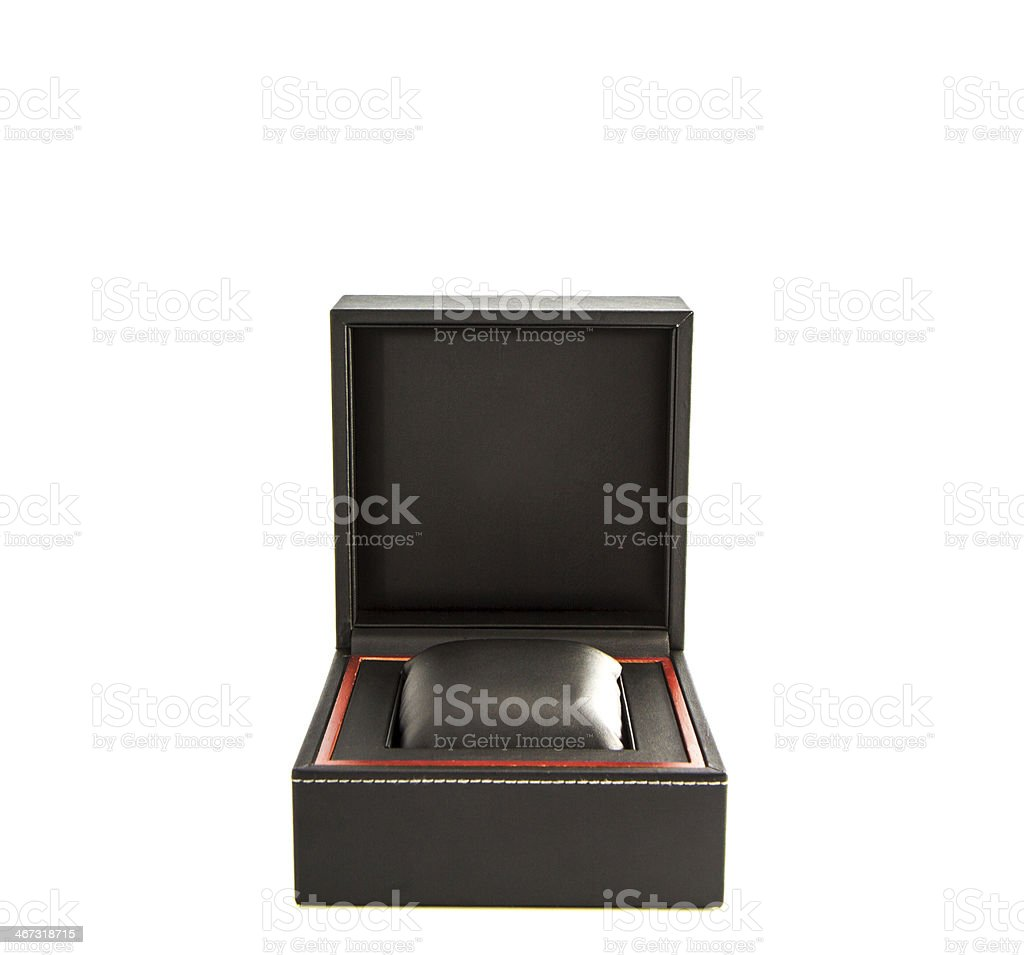 Watch box stock photo