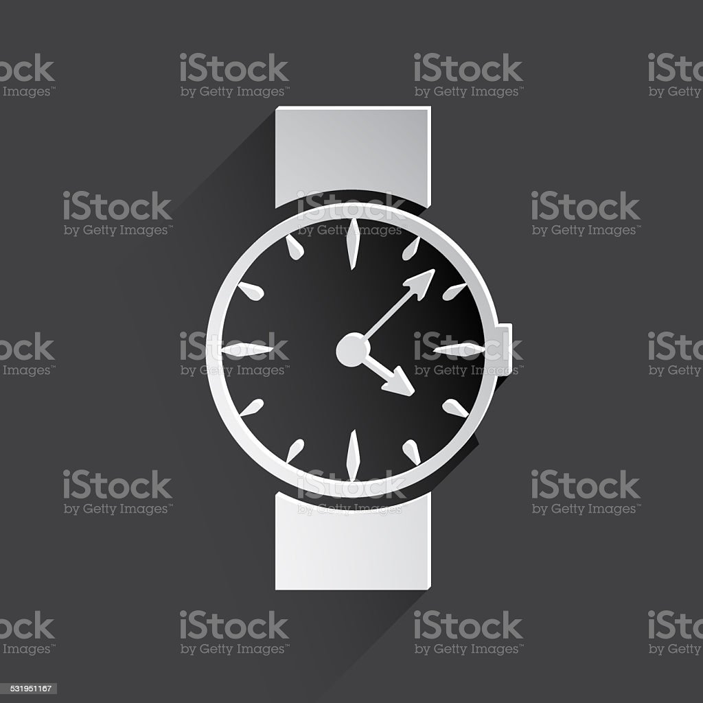 watch, clock web icon. stock photo
