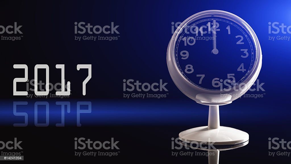 Watch Face with 2017 stock photo