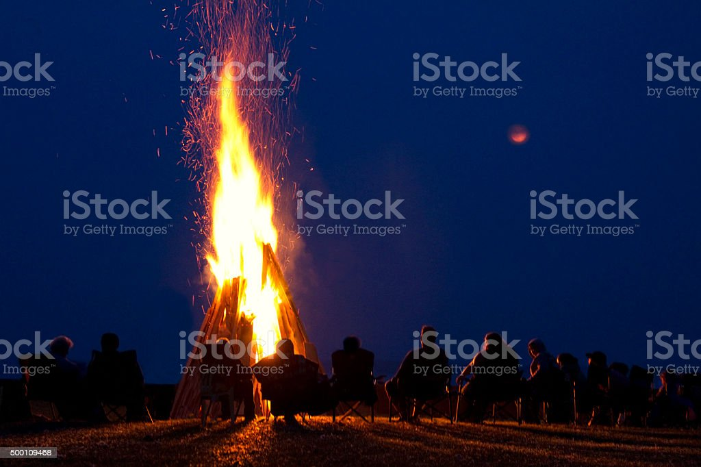 Watch Fire stock photo