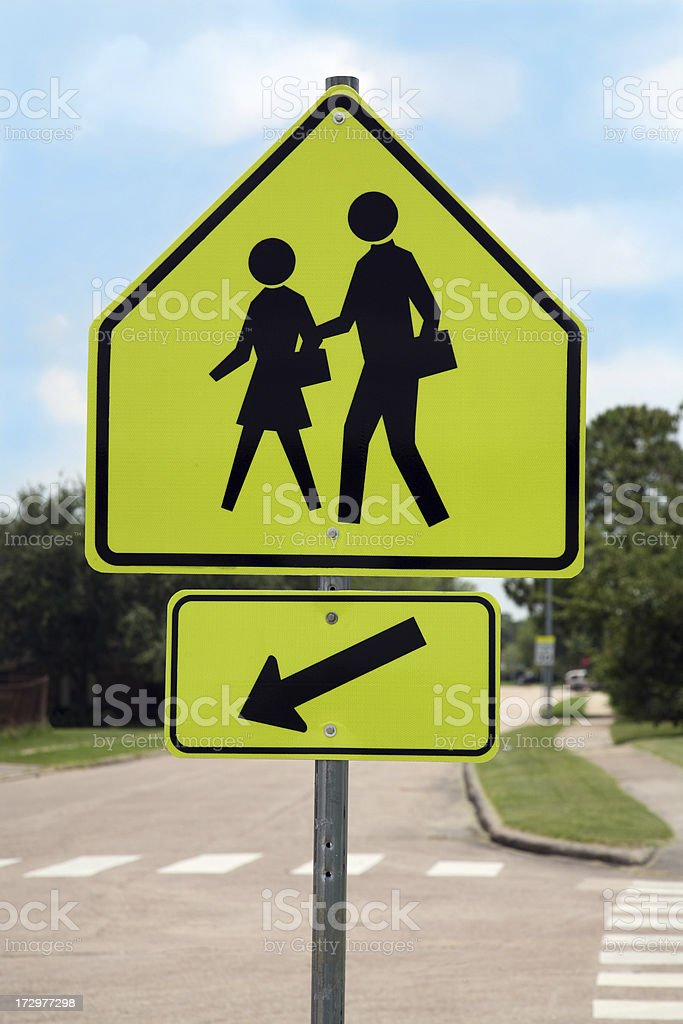 watch for children sign stock photo