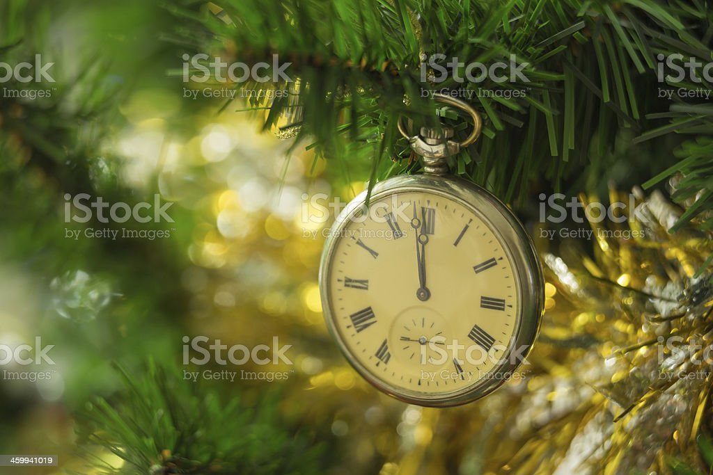 Watch for Christmas trees royalty-free stock photo
