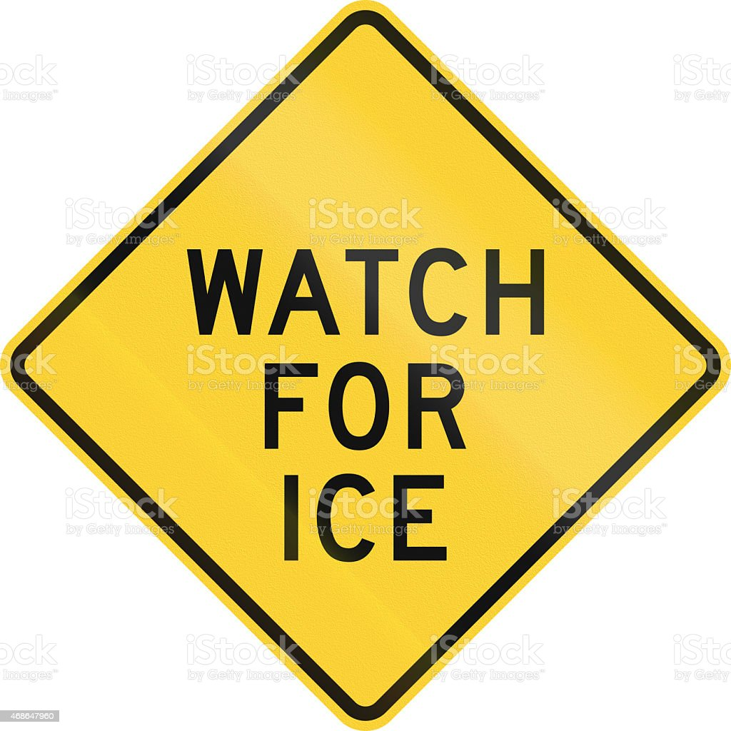 Watch For Ice stock photo