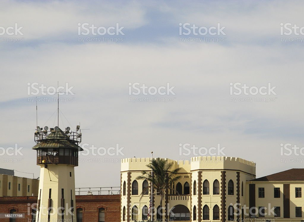 Watch Guard Tower San Quentin Prision royalty-free stock photo
