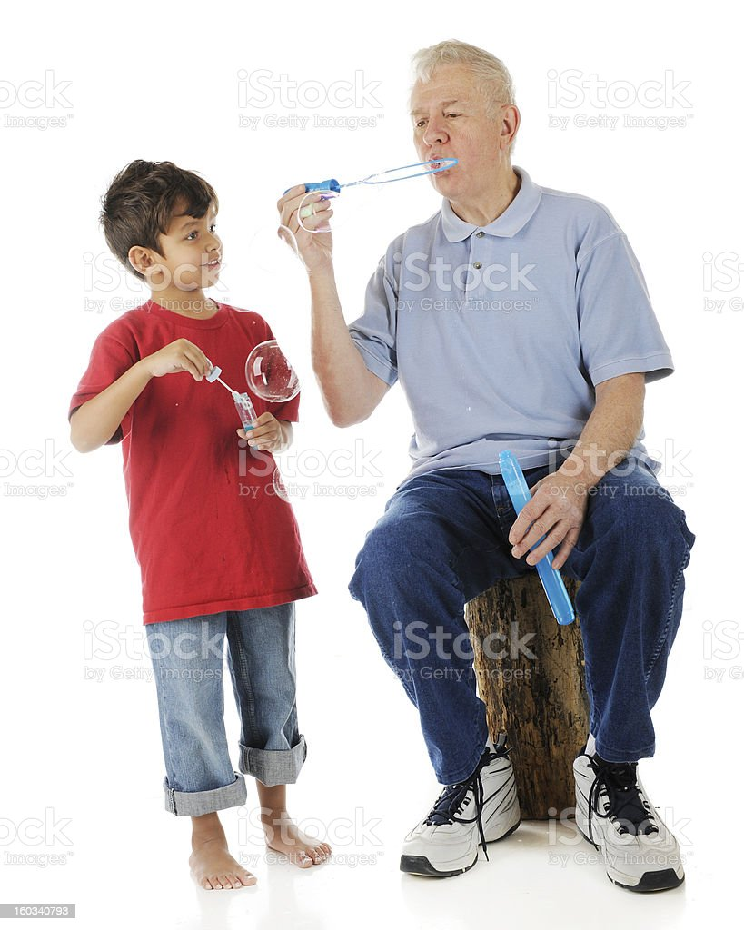 Watch How Grandpa Does It royalty-free stock photo