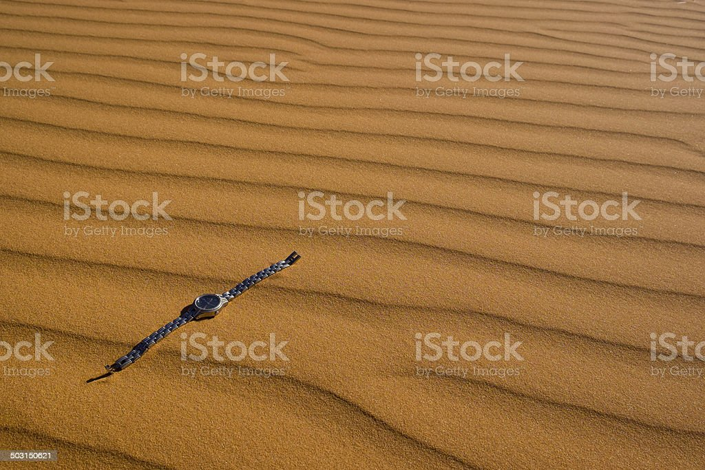 Watch in Coral Pink Sand Dunes royalty-free stock photo