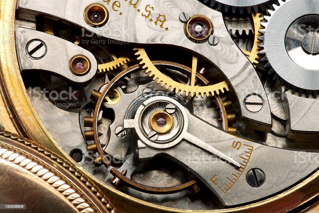 Watch movement stock photo
