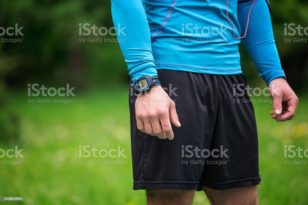 Watch on the wrist stock photo