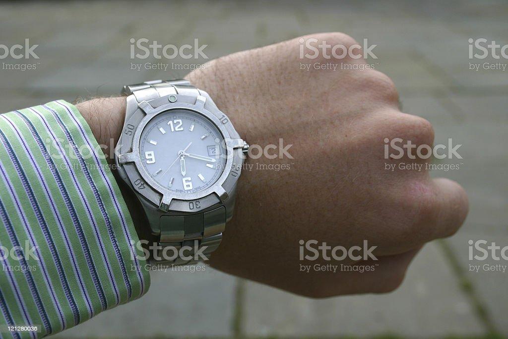 Watch on Wrist royalty-free stock photo