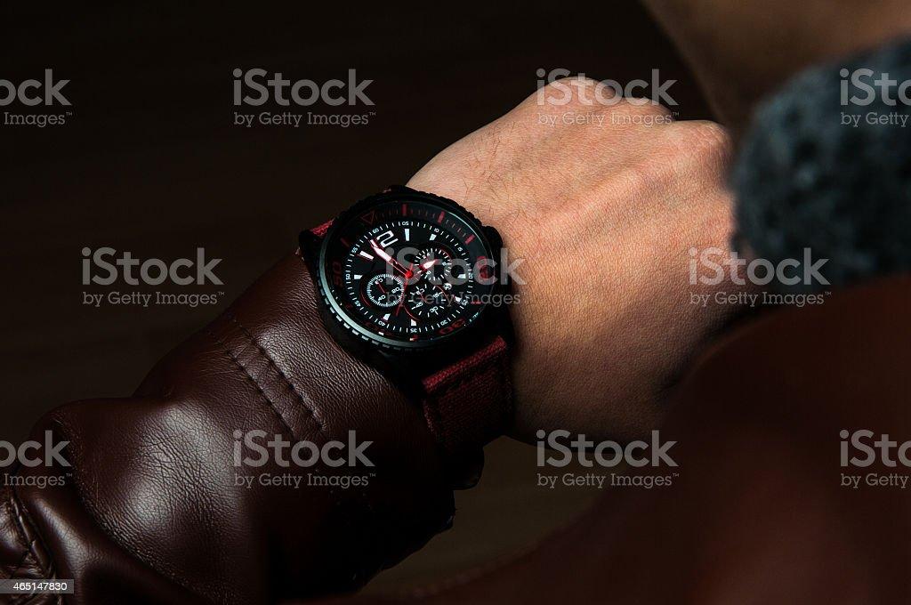 Watch on Wrist stock photo