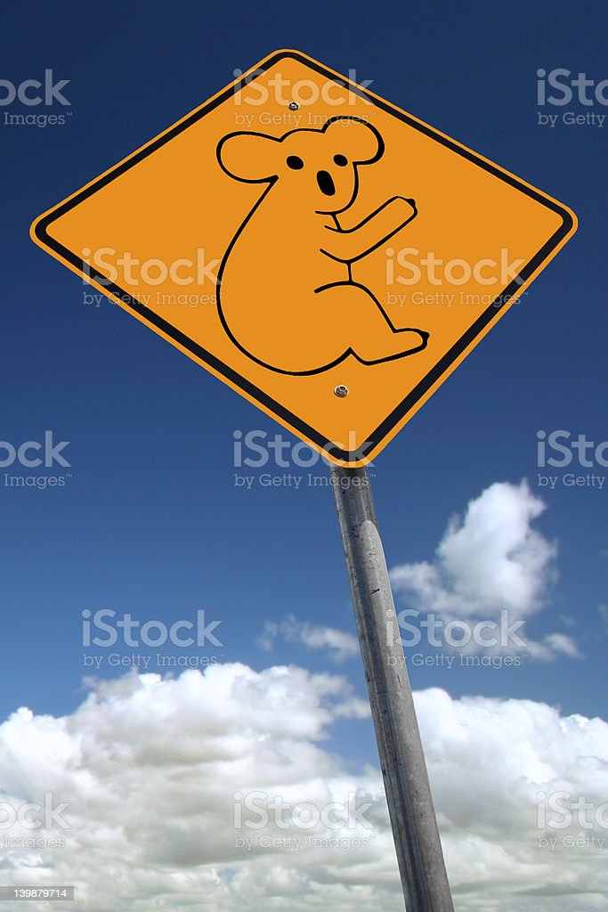 Watch out for koala bears royalty-free stock photo
