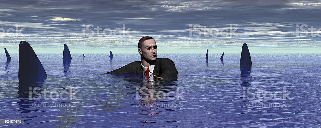 Watch out for Sharks! stock photo