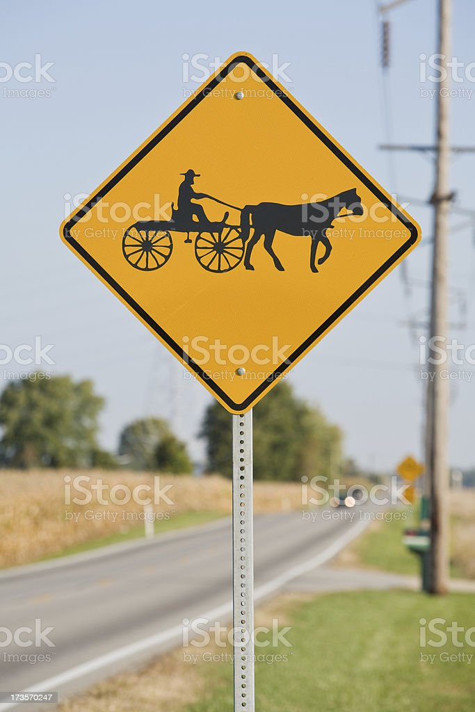 Watch out for the Amish stock photo