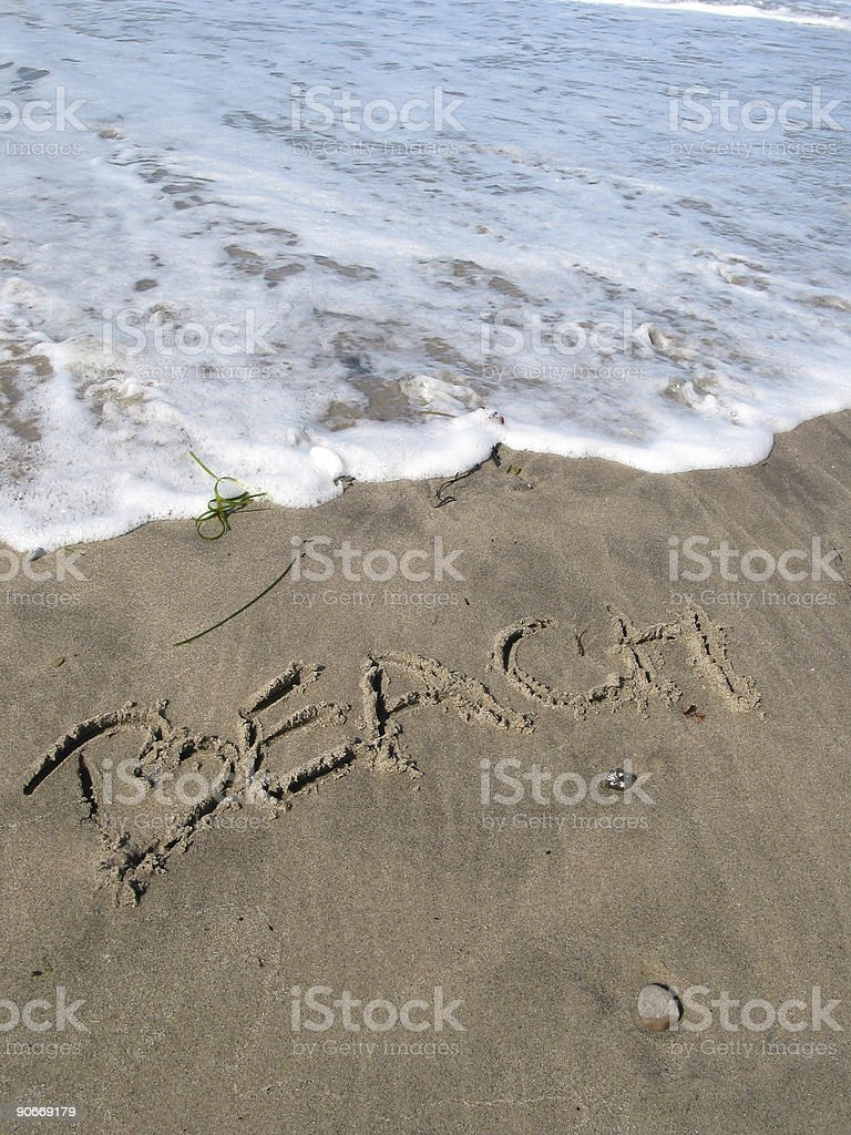 Watch out for the 'beach'! royalty-free stock photo