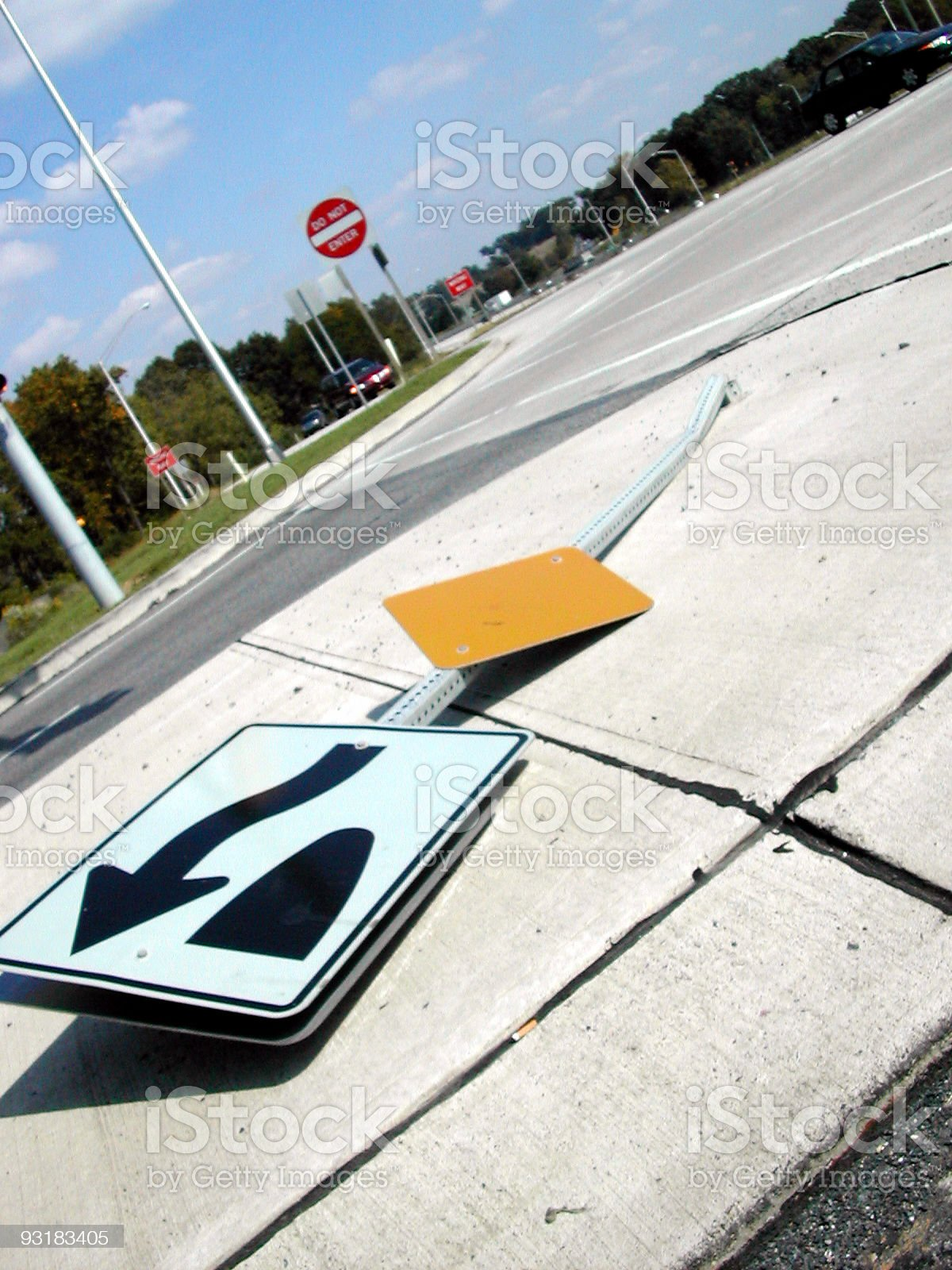 watch out for the median! royalty-free stock photo