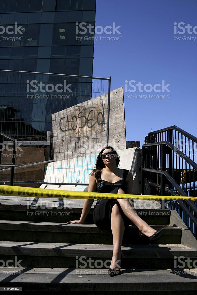 Watch Out For This Lady stock photo