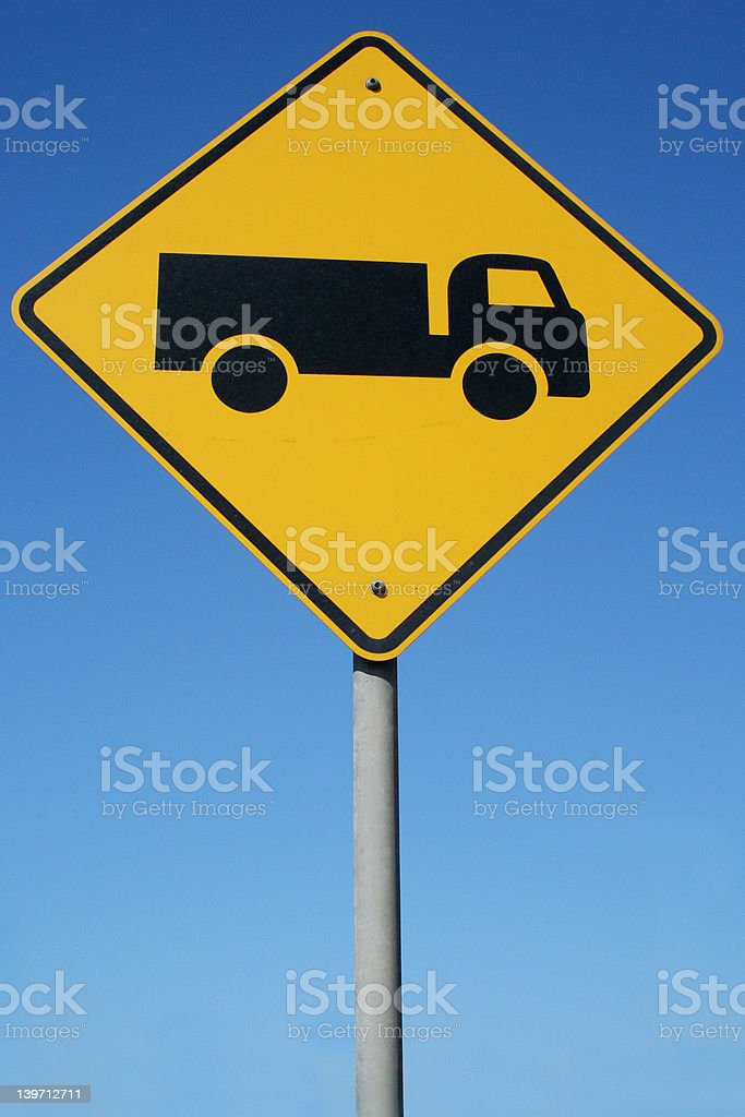 Watch out for trucks royalty-free stock photo