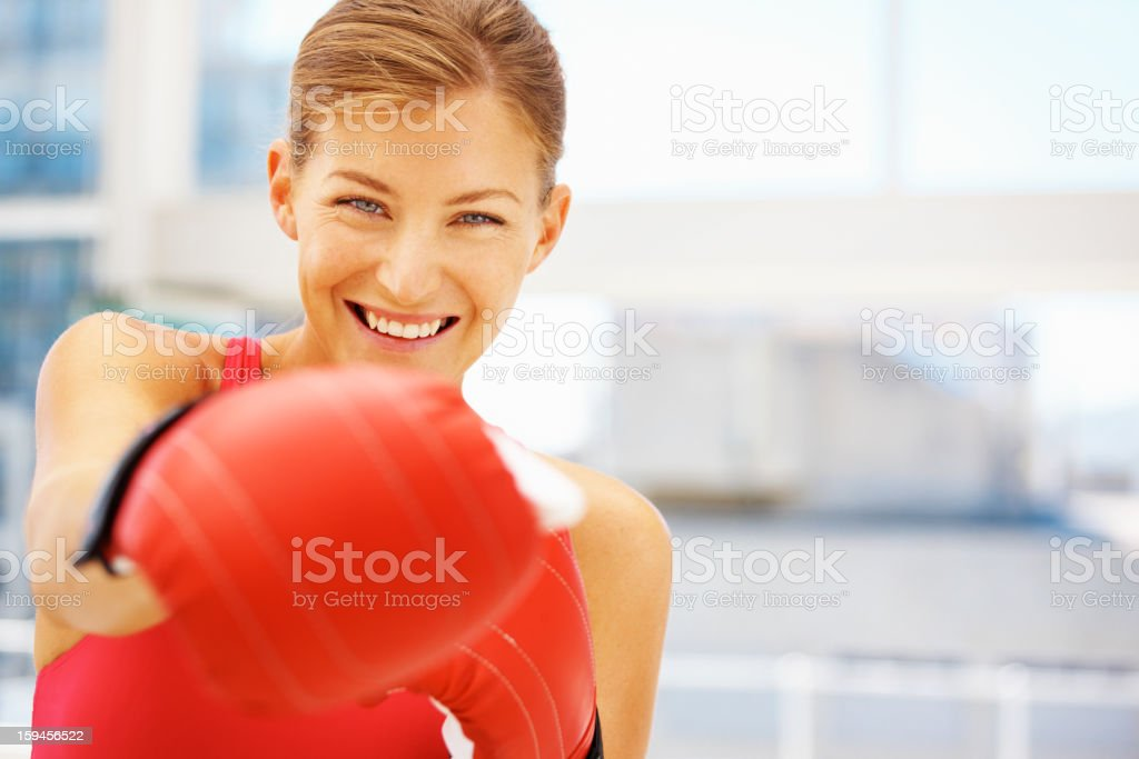 Watch out! I know how to defend myself! royalty-free stock photo