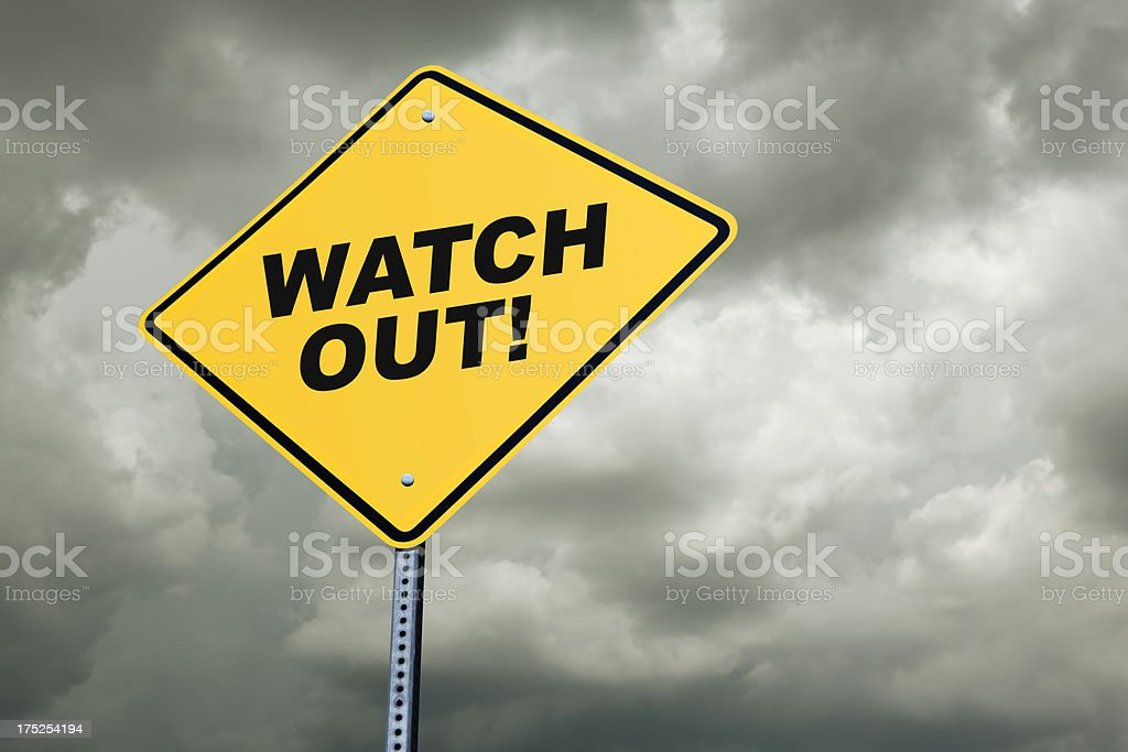 Watch Out! stock photo