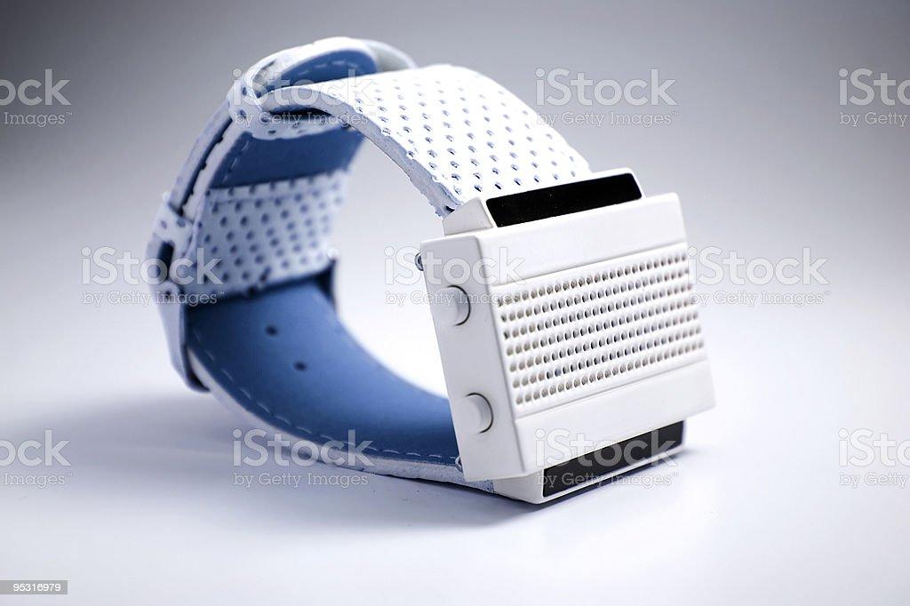LED watch stock photo