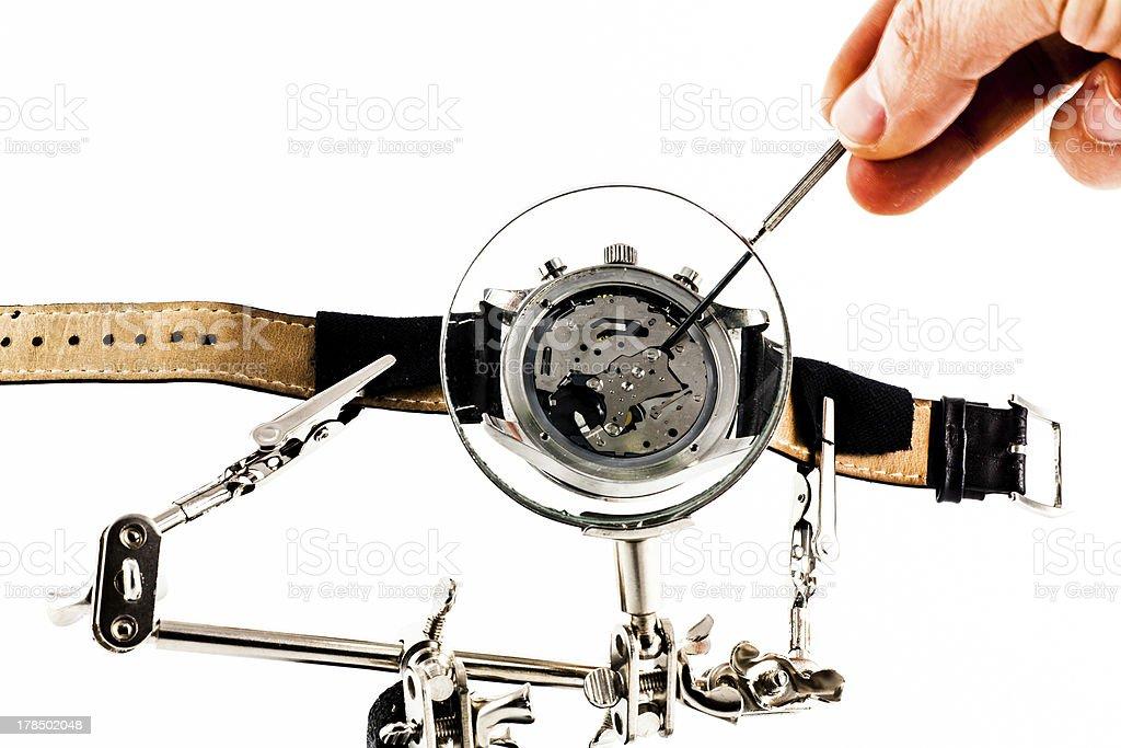 Watch repairing operation royalty-free stock photo