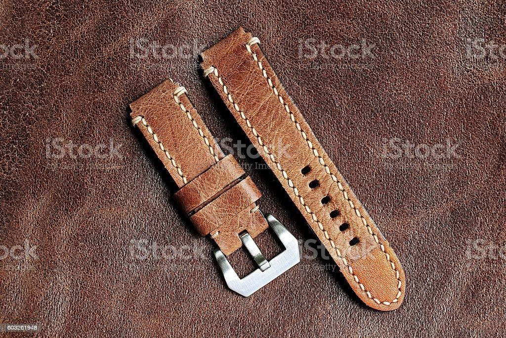 Watch strap, watch bracelet. stock photo