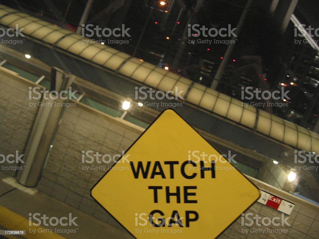 Watch The Gap royalty-free stock photo