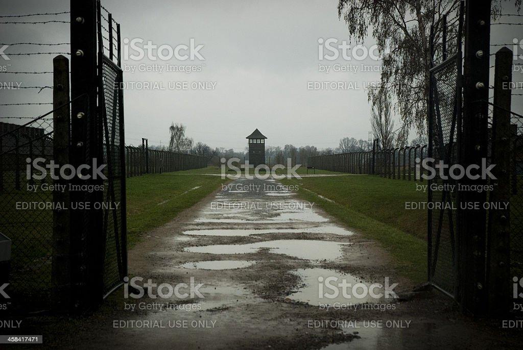 Watch Tower, Auschwitz-Birkenau stock photo
