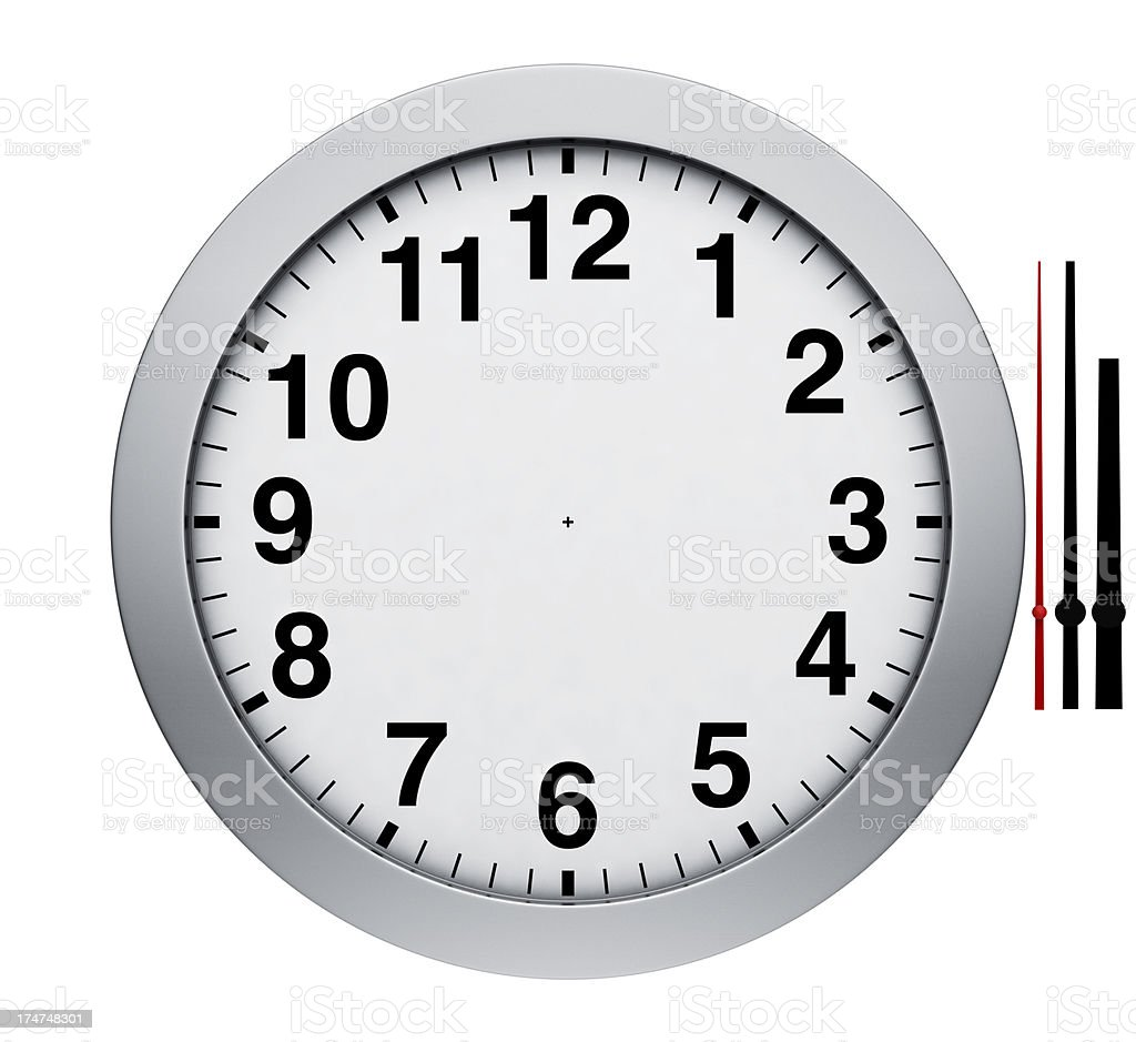 Watch Wall Clock - Set the Time royalty-free stock photo