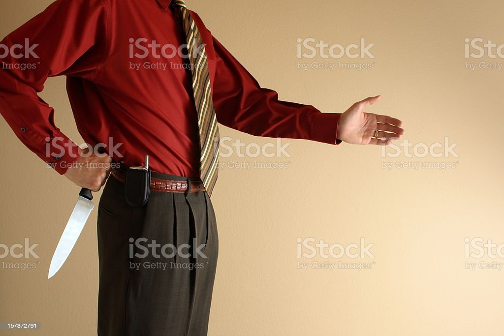 Watch Your Back royalty-free stock photo