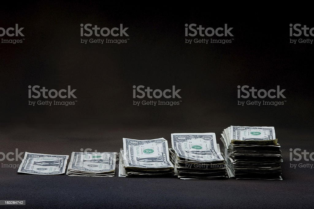 Watch Your Dollars Grow royalty-free stock photo