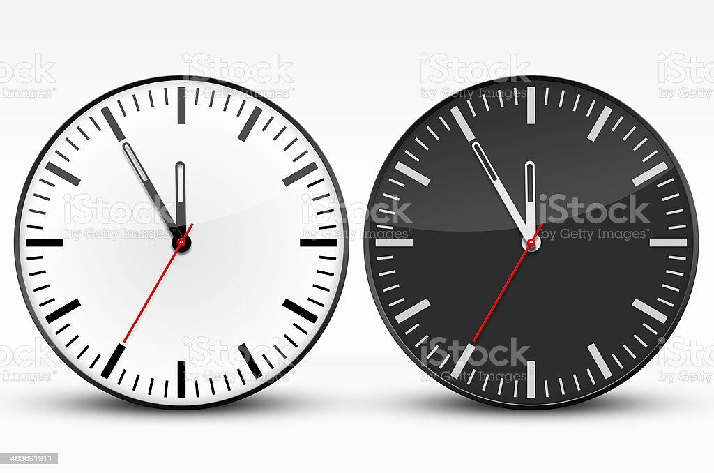 Watches, Black, White, Five to Twelve stock photo