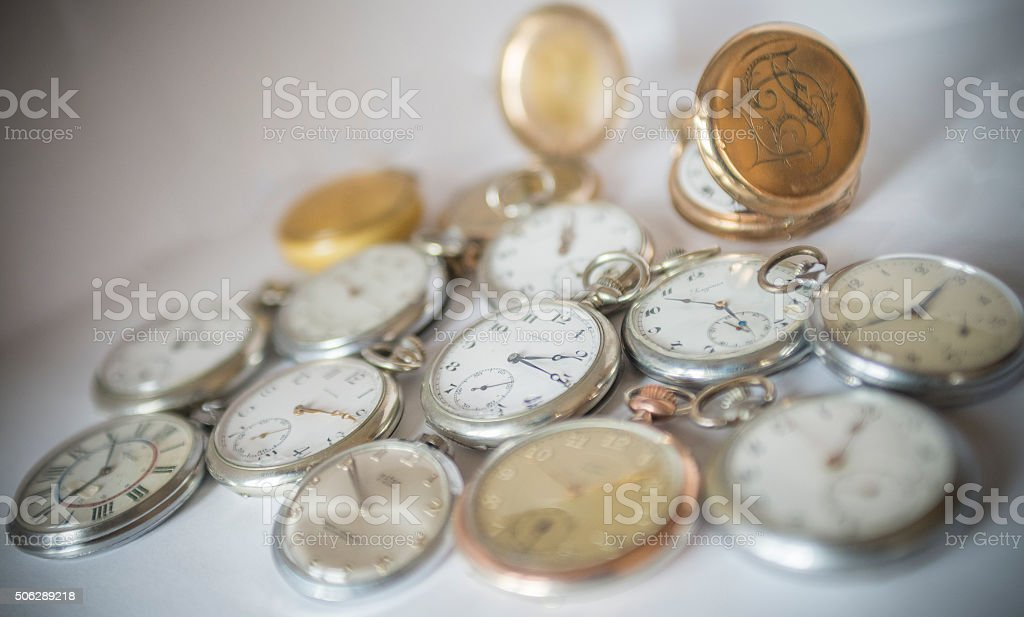 Watches on white background stock photo