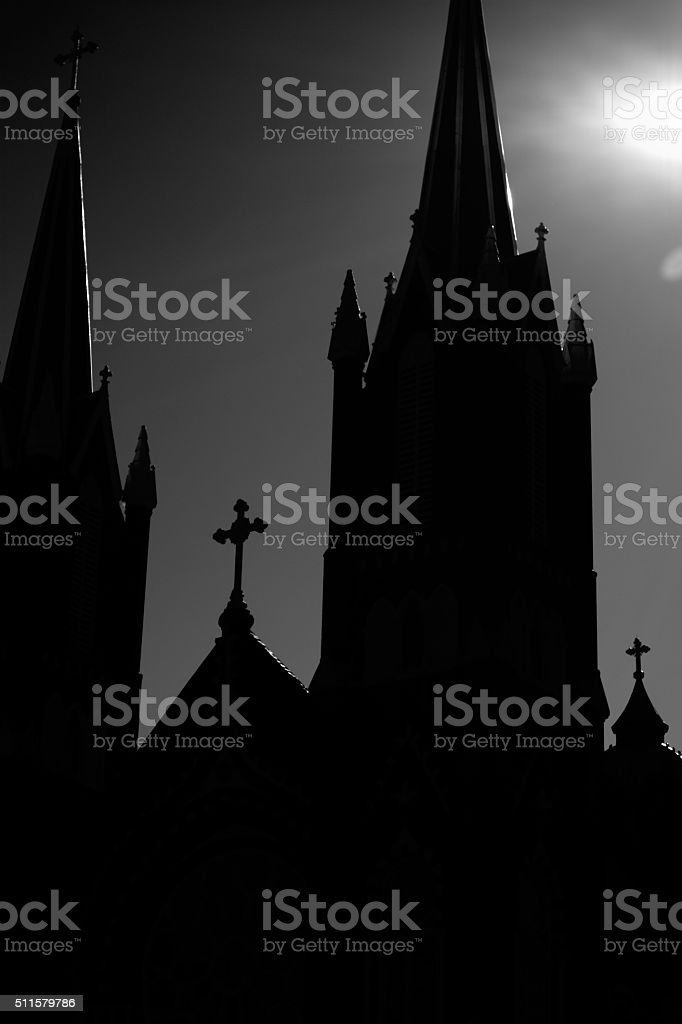 Watchful Towers stock photo
