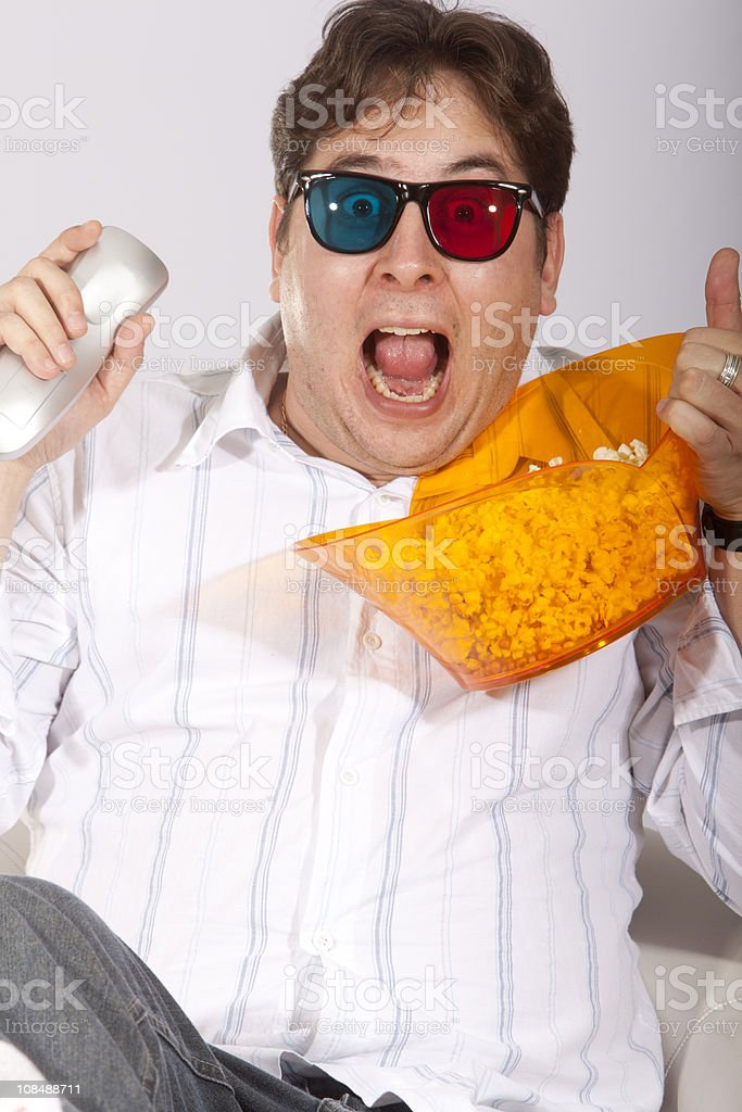 Watching 3D Movie royalty-free stock photo