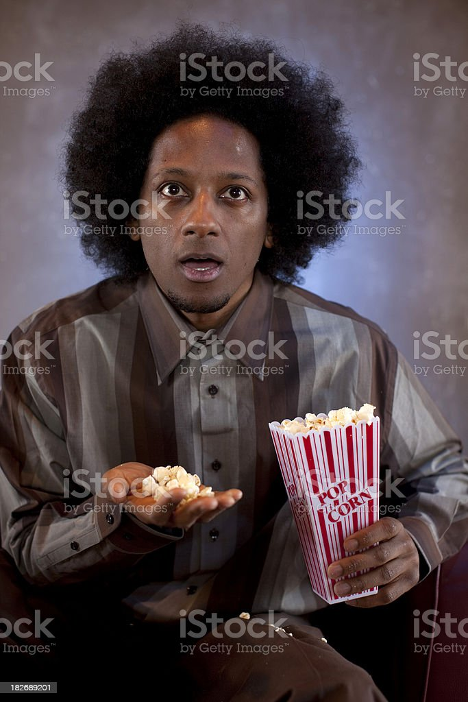 Watching a movie stock photo