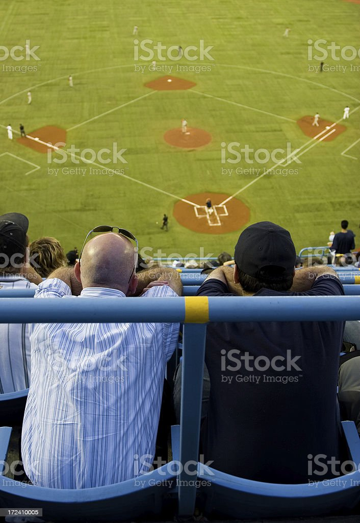 Watching baseball royalty-free stock photo