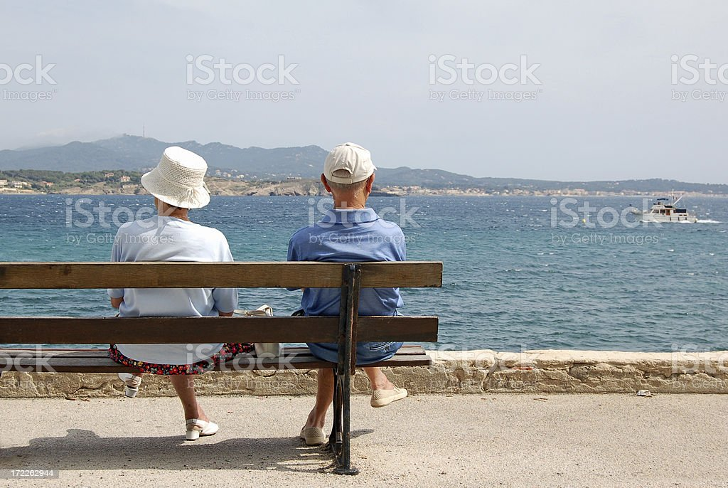 Watching boats go by royalty-free stock photo