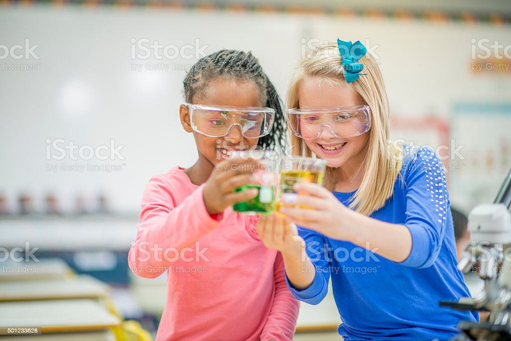 Watching Colors React to Each Other stock photo