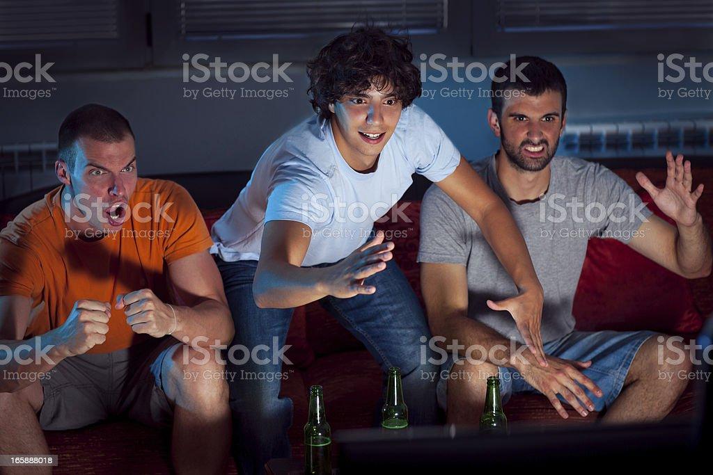 Watching Football stock photo