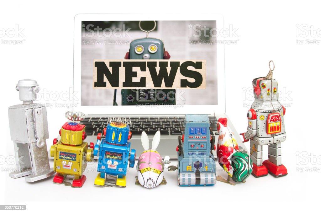 watching news stock photo