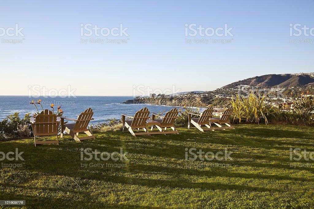 Watching Ocean Sunset royalty-free stock photo