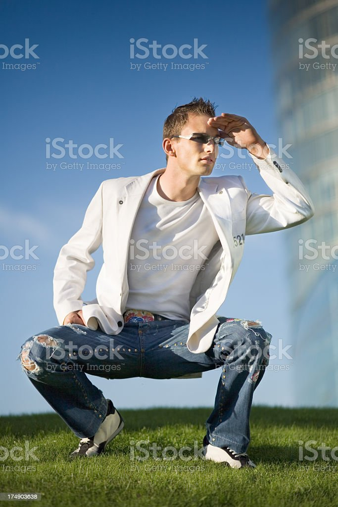 Watching Out royalty-free stock photo