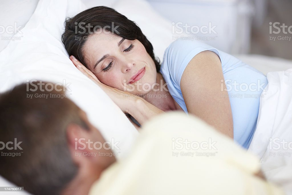 Watching over her while she sleeps royalty-free stock photo
