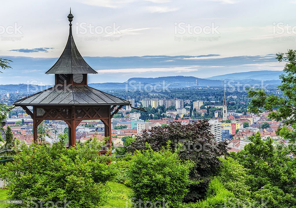Watching over the cityscape royalty-free stock photo