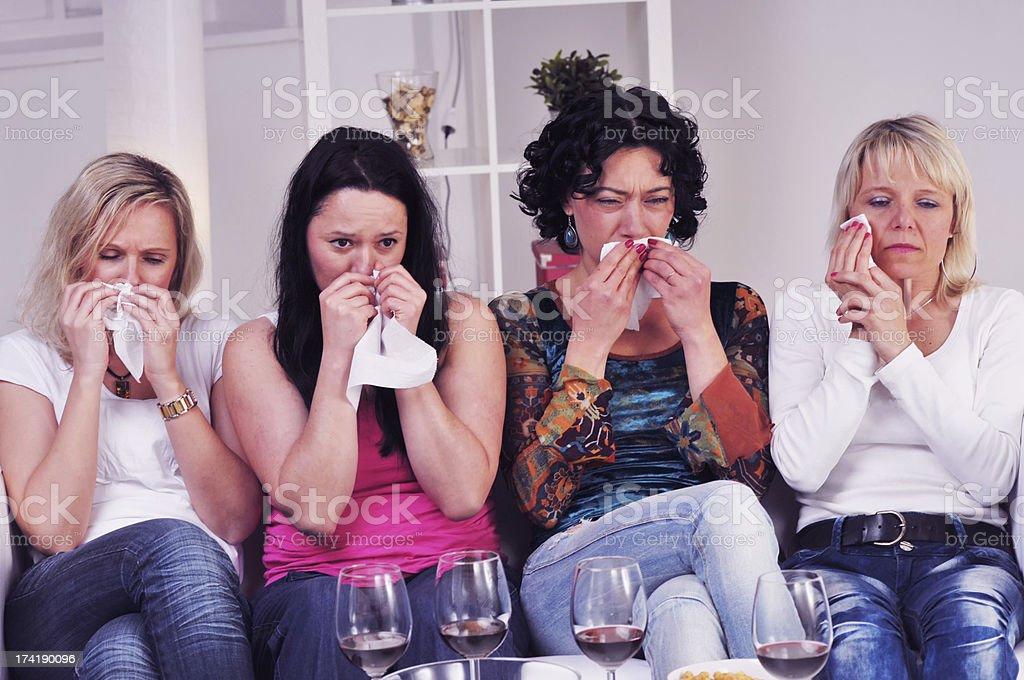 Watching soap opera stock photo